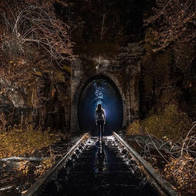 14. Старый железнодорожный тоннель в Хеленсбурге, Австралия