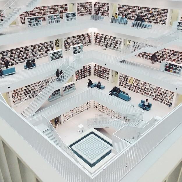 13. Городская библиотека в Штутгарте, Германия